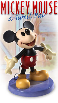 Artist Mickey Mouse Sculpture portrait