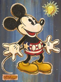 Artist Mickey Mouse Artwork portrait
