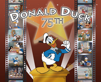 Artist Donald Duck Animation Art portrait