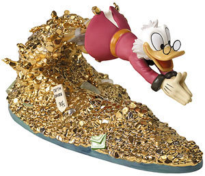 Scrooge McDuck Artwork WDCC Figurines Classics Collection Scrooge McDuck - Pool of Riches