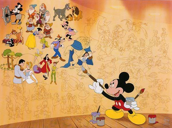 Disney mickey quotes tumblr for Character mural