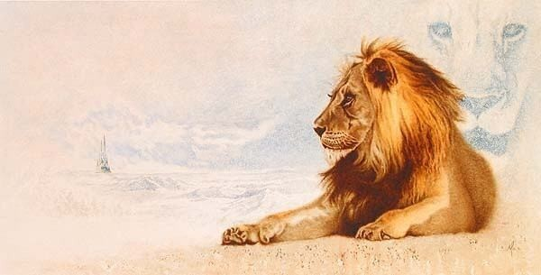 Mike Kupka Mike Kupka Limited Edition Giclee on Canvas The Great Lion