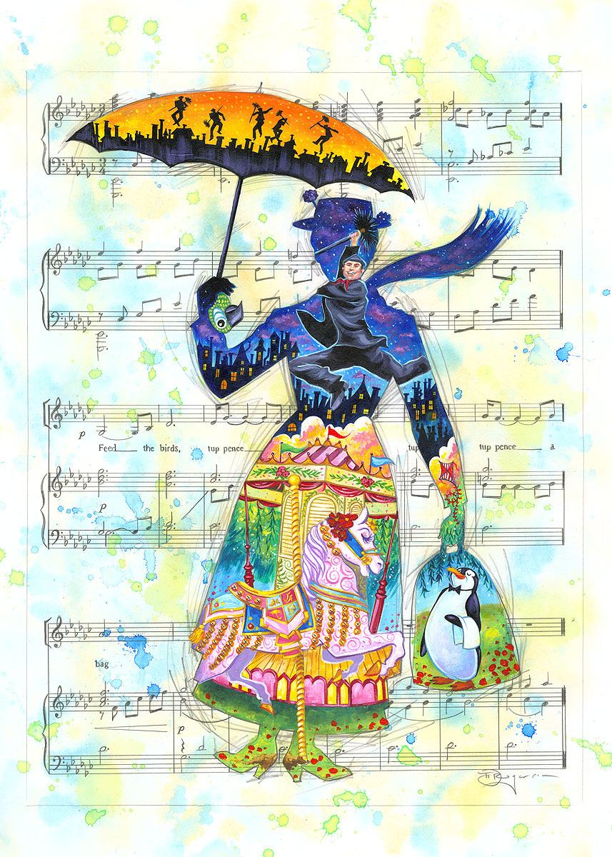 Tim Rogerson Mary Poppins Artwork