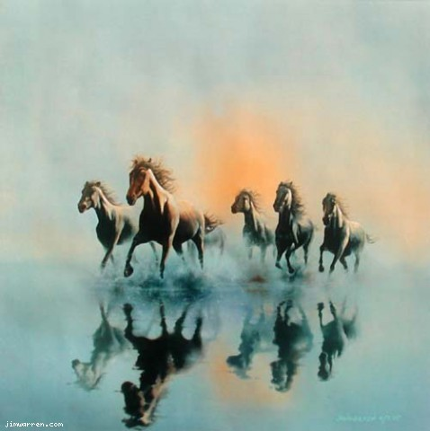 Jim Warren Jim Warren Limited Edition Giclee on Canvas Against The Wind