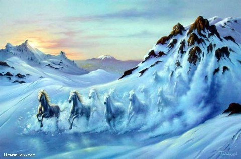 Jim Warren Jim Warren Limited Edition Giclee on Canvas Avalanche