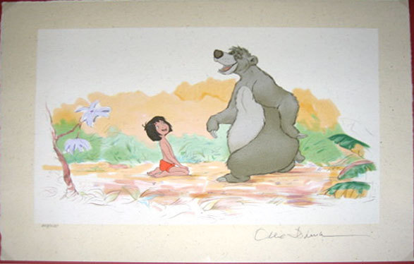 Walt Disney Jungle Book Artwork