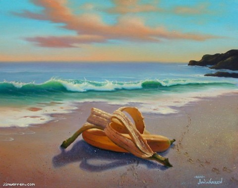 Jim Warren Jim Warren Limited Edition Giclee on Canvas Bananas Embracing