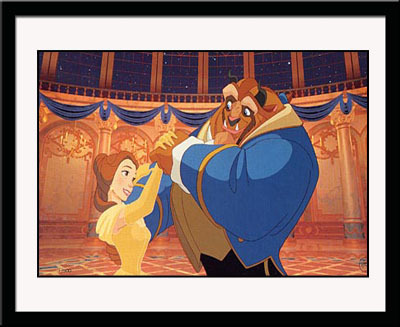 Beauty and the Beast Art Walt Disney Limited Edition Hand-Painted Cel Ballroom Dancing