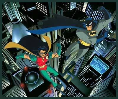 Superhero Artwork Warner Brothers Limited Edition Hand-Painted Cel Gotham's Dynamic Duo