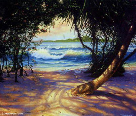 Jim Warren Jim Warren Limited Edition Giclee on Canvas Caribbean View