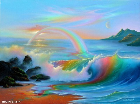 Jim Warren Jim Warren Limited Edition Giclee on Canvas Colorful World