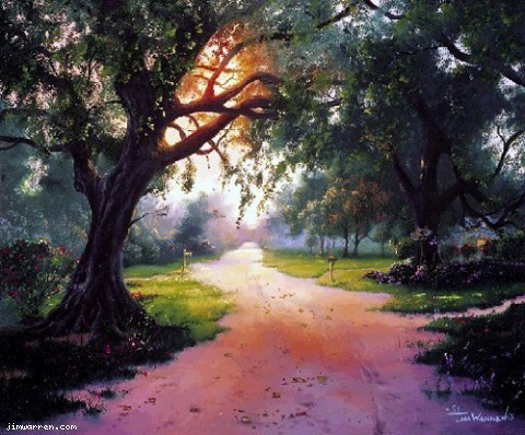 Jim Warren Jim Warren Limited Edition Giclee on Canvas Country Lane