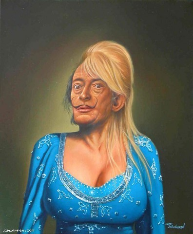 Jim Warren Jim Warren Limited Edition Giclee on Canvas Dali-Parton