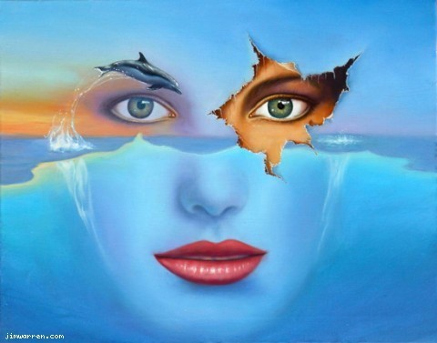 Jim Warren Jim Warren Limited Edition Giclee on Canvas Dream Watcher