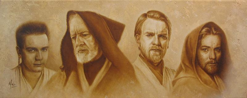 Mike Kupka Mike Kupka Limited Edition Giclee on Canvas Evolution of Obi-Wan