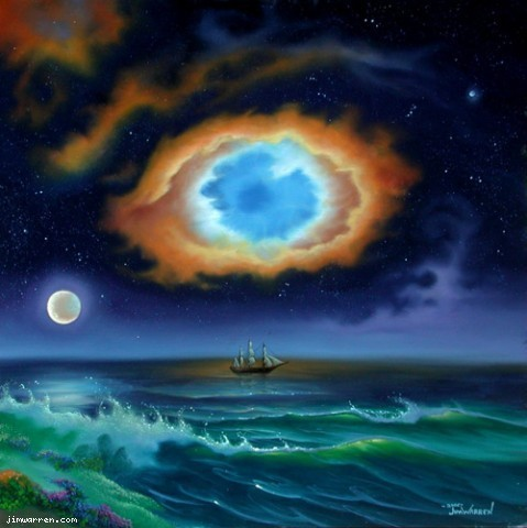 Jim Warren Jim Warren Limited Edition Giclee on Canvas Eye of God