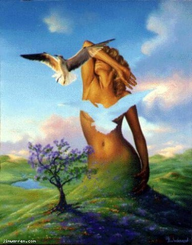 Jim Warren Jim Warren Limited Edition Giclee on Canvas Fly Away