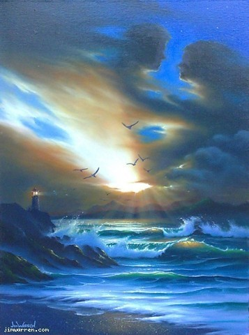 Jim Warren Jim Warren Limited Edition Giclee on Canvas Good Morning