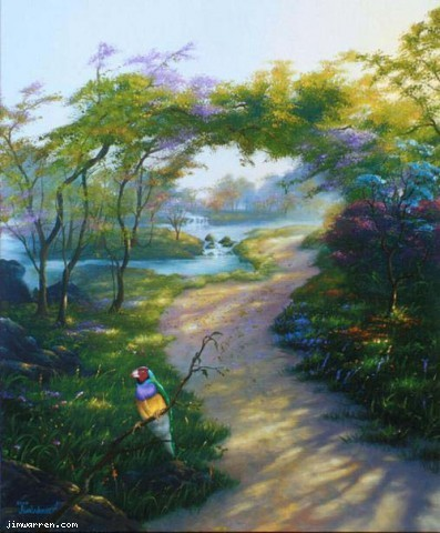 Jim Warren Jim Warren Limited Edition Giclee on Canvas Happy Trails