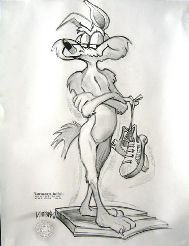 Lawrence Noble Road Runner Artwork by Chuck Jones