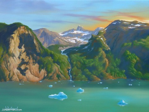 Jim Warren Jim Warren Limited Edition Giclee on Canvas Hidden Alaska