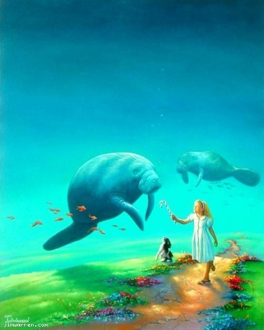 Jim Warren Jim Warren Limited Edition Giclee on Canvas Imaginary Friends
