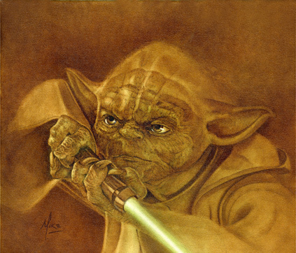 Mike Kupka Mike Kupka Limited Edition Giclee on Canvas Jedi Master