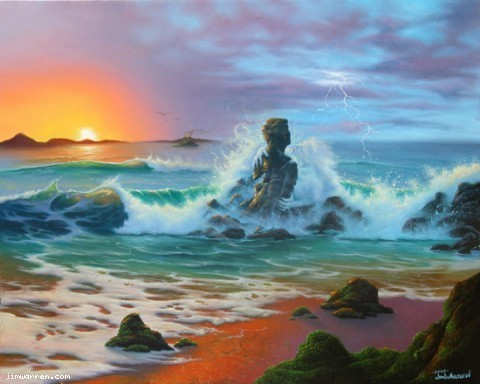 Jim Warren Jim Warren Limited Edition Giclee on Canvas Last Embrace