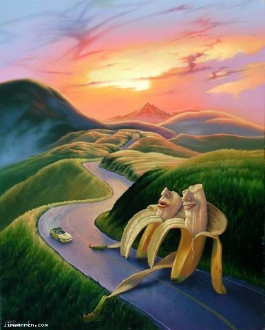 Jim Warren Jim Warren Limited Edition Giclee on Canvas Long And Winding Road