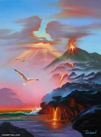 Jim Warren Jim Warren Limited Edition Giclee on Canvas Love Hawaiian Style
