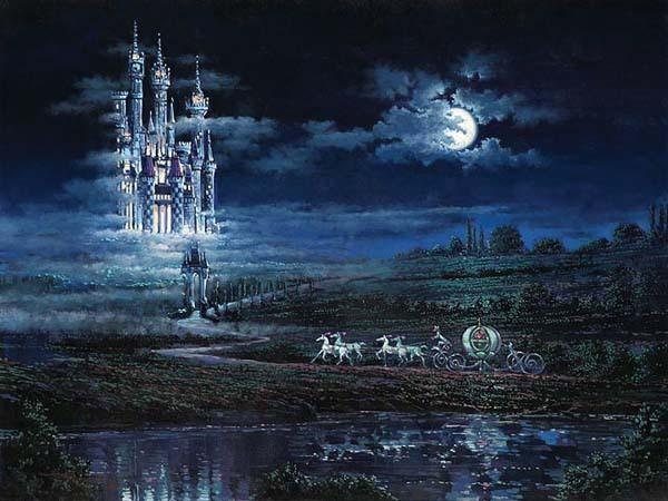 Rodel Gonzalez Rodel Gonzalez Limited Edition Giclee on Canvas Moonlit Castle