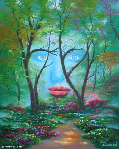 Jim Warren Jim Warren Limited Edition Giclee on Canvas Natures Eyes