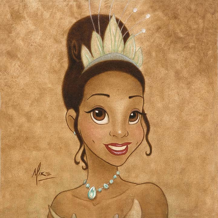 Mike Kupka Mike Kupka Limited Edition Giclee on Canvas Princess Tiana Portrait