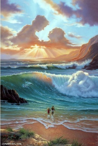 Jim Warren Jim Warren Limited Edition Giclee on Canvas Romantic Day