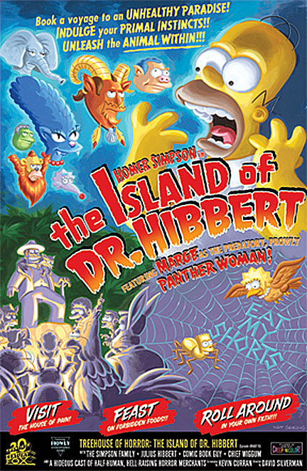 20th Century Fox Artwork 20th Century Fox Limited Edition Giclee on Paper The Island of Dr. Hibbert - Paper