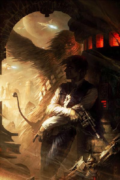 Superhero Artwork Raymond Swanland Limited Edition Giclee on Canvas Shadows of Tatooine