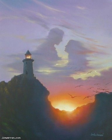 Jim Warren Jim Warren Limited Edition Giclee on Canvas Shining Brightly