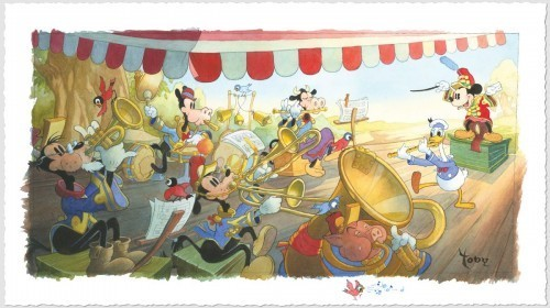 Toby Bluth Mickey Mouse Artwork