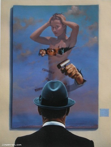 Jim Warren Jim Warren Limited Edition Giclee on Canvas The Censor