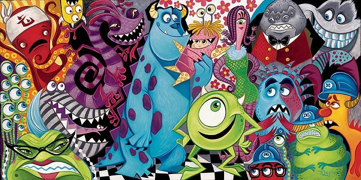 Tim Rogerson Monsters Inc Artwork