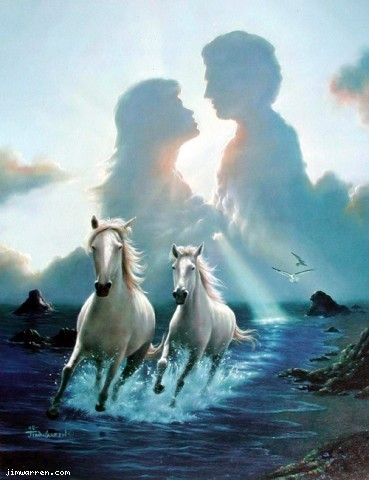 Jim Warren Jim Warren Limited Edition Giclee on Canvas Together Again
