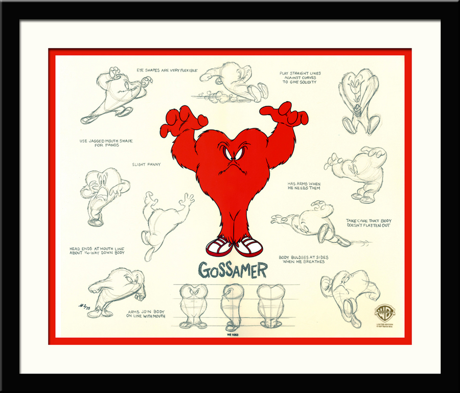 Tweety Bird Artwork Warner Brothers Limited Edition Hand-Painted Cel Gossamer Model Sheet