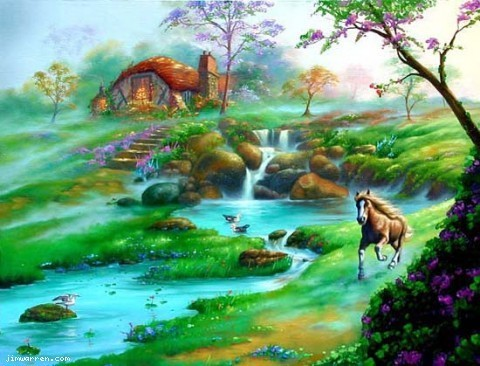 Jim Warren Jim Warren Limited Edition Giclee on Canvas Wonderful World