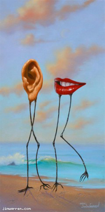 Jim Warren Jim Warren Limited Edition Giclee on Canvas You Listen While I Talk