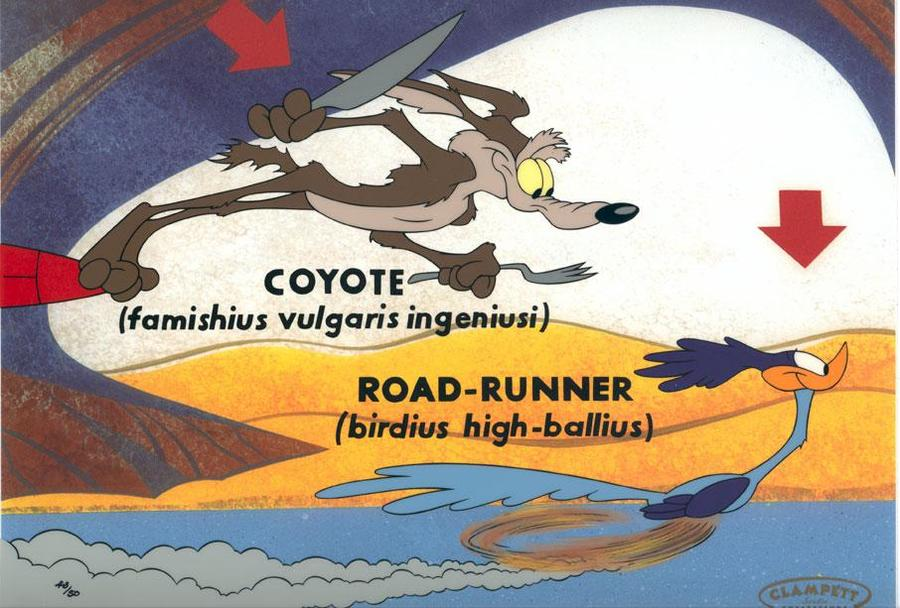 Warner Brothers Wile E. Coyote Artwork