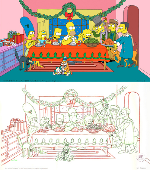20th Century Fox Simpsons Artwork