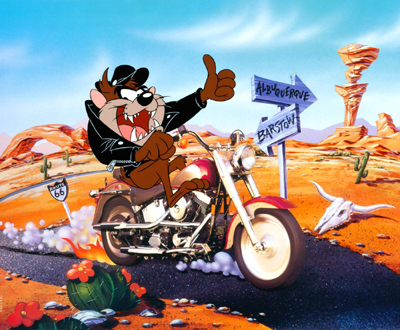Warner Brothers Tazmanian Devil Artwork