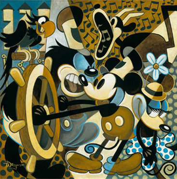 Tim Rogerson Tim Rogerson Limited Edition Giclee on Canvas Of Mice and Music