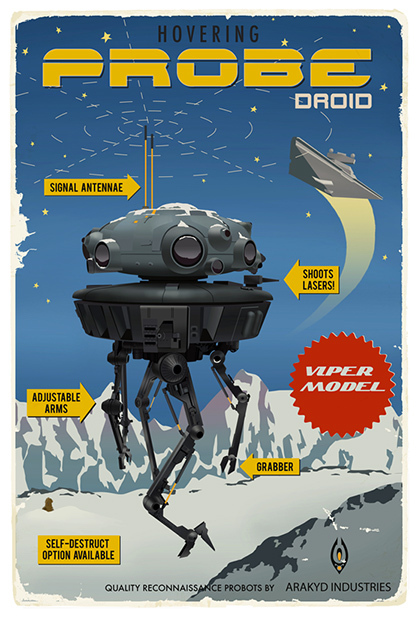Steve Thomas Steve Thomas Star Wars Travel Posters