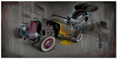 Mickey Mouse Artwork Noah Limited Edition Giclee on Canvas Rat Rod #80 - Mickey Mouse